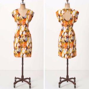 Anthropologie Maple Era Plumes Printed Dress